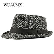 Фирменная новая осенне зимняя шляпа wuaumx fedoras для мужчин