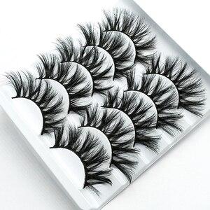 Image 3 - SEXYSHEEP 5pair 3D Faux Mink Eyelashes Natural False Lashes Wispy Makeup Beauty Extension Tools maquiagem faux cils