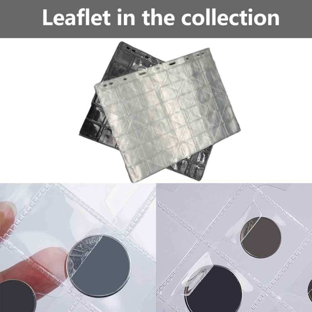 1 גיליון 42 רשתות גלרית בעל דף 28mm אנטי להחליק אגורה כסף אחסון ספר מקרה תיקיית בעל אוסף נייד גלרית