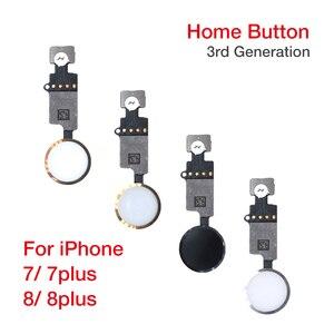 Image 2 - עדכון חדש סוף מהדורה אוניברסלי להחזיר מפתח עבור IPhone 7 8 7 בתוספת 8 בתוספת כפתור הבית להגמיש כבל 3rd דור