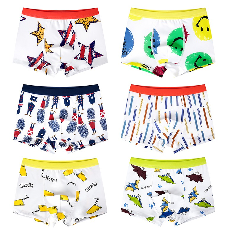 2 Pcs/lot 3-11T High Quality Pure Color Boys Underpants Cotton Solid Boys Boxer Briefs Students Kids Underwear Clothing