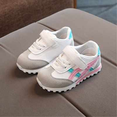 Free Shipping Kids Shoes Boys Girls Toddler Color Matching Sneakers Children Soft Sole Prewalkers Non-slip Fashion Cute Shoes