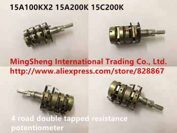 Original new 100% Japan import 15A100KX2 15A200K 15C200K 4 road double tapped resistance potentiometer (SWITCH)