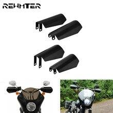 Motorrad Schatten Handprotektoren Matte Schwarz Hand Protector Wind Fallen Schutz Guards 2PCS Für Harley Dyna Sportster XL Bagger