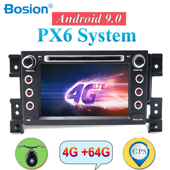 2Din PX6 Car DVD Player For Suzuki Grand Vitara 2005-2018 Android 9.0 GPS Navigation Bluetooth SWC Mirror Link 4G+64G ROM DAB