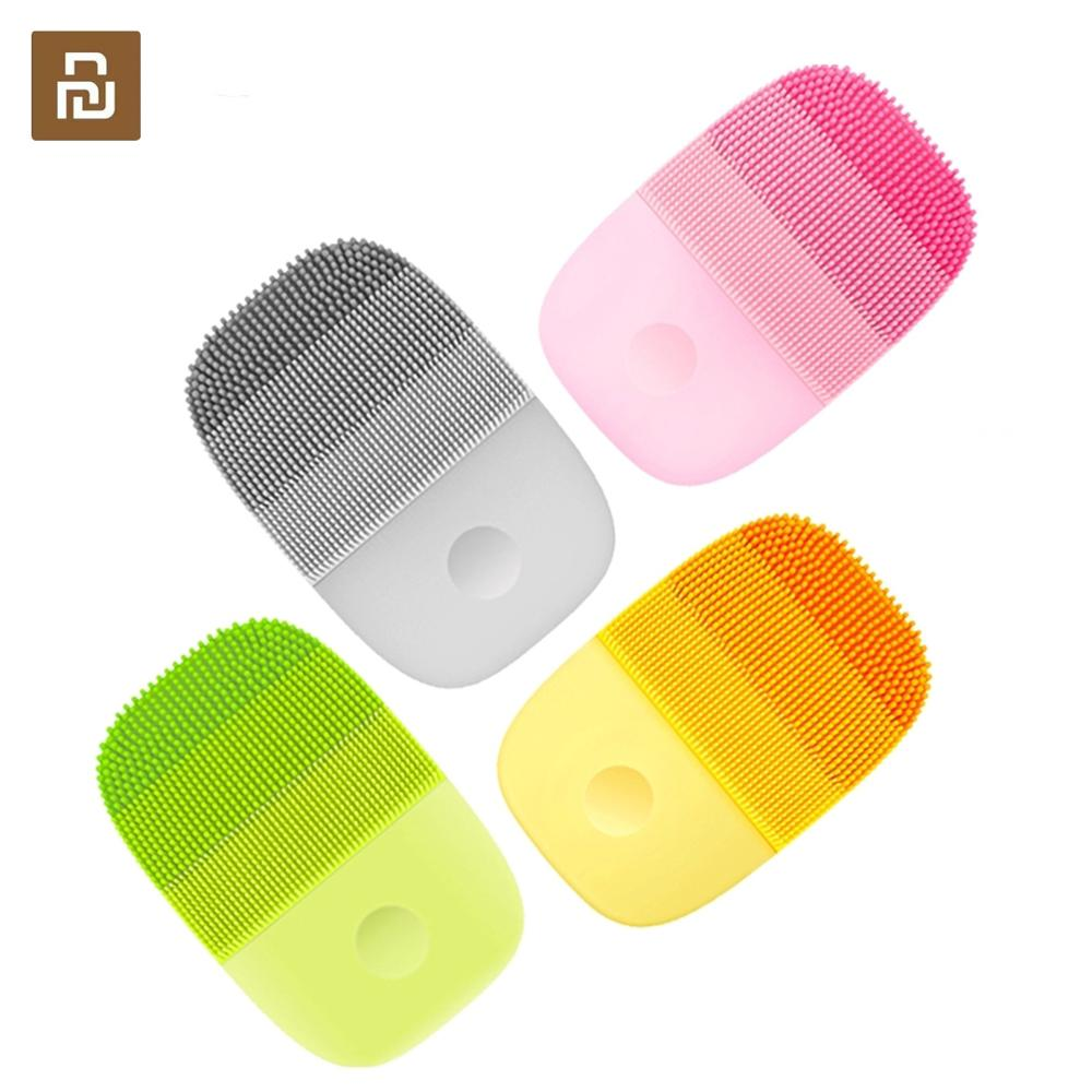 Youpin inFace Electric Deep Facial Cleaning Massage Brush Sonic Face Washing IPX7 Waterproof Silicone Face Cleanser Skin Car