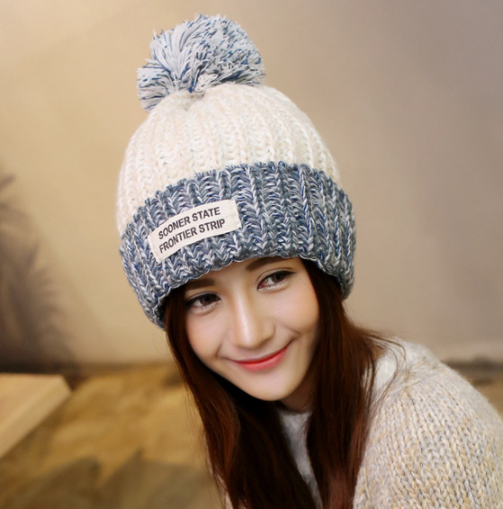Warm Time Of Childbirth Wool Hat Winter Women's Autumn And Winter Set Of Head Cap Thick Winter Confinement Cap Tall Crown One Si