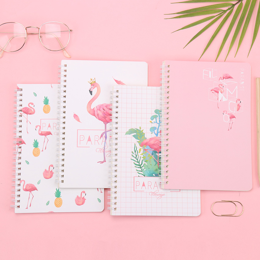 120 Pages Spiral Coil Notebook Kawaii Office Spiral Binding Simple Student A5 Thickened Grid Paper Coil Ben Stationery