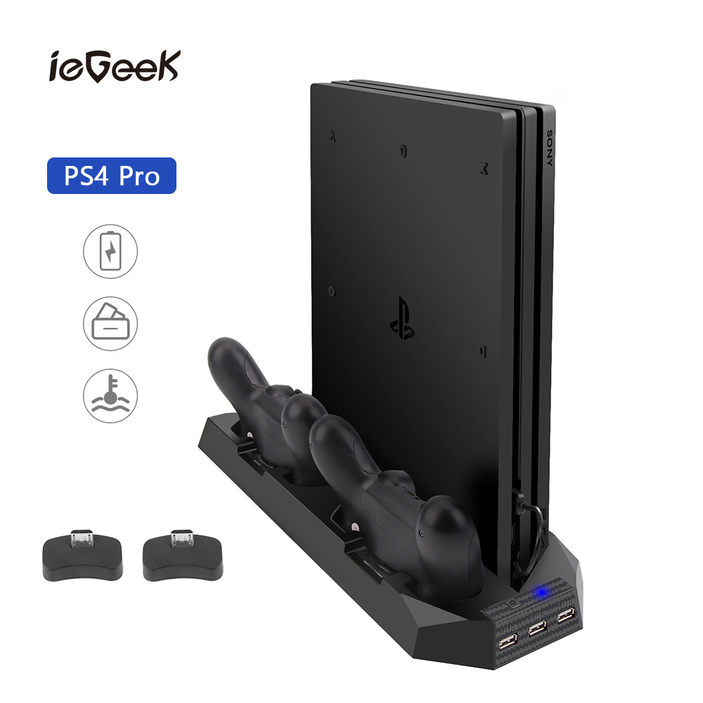 PS4 Pro Cooler Cooling Fan Stand Charging Heat Sink Cooling Fan for Sony PS4 Pro Dual