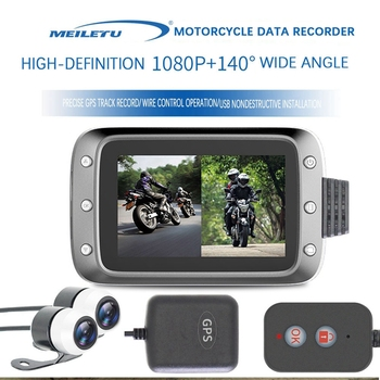 new q3 portable mini full hd 1080p car camcorder driving recorder with wide angle lens 6x wide digital zoom f2 2 recording 31080P HD Dual-lens Wide-angle 140° Motorcycle Driving Recorder Locomotive GPS With Wire-Controlled Recorder Waterproof