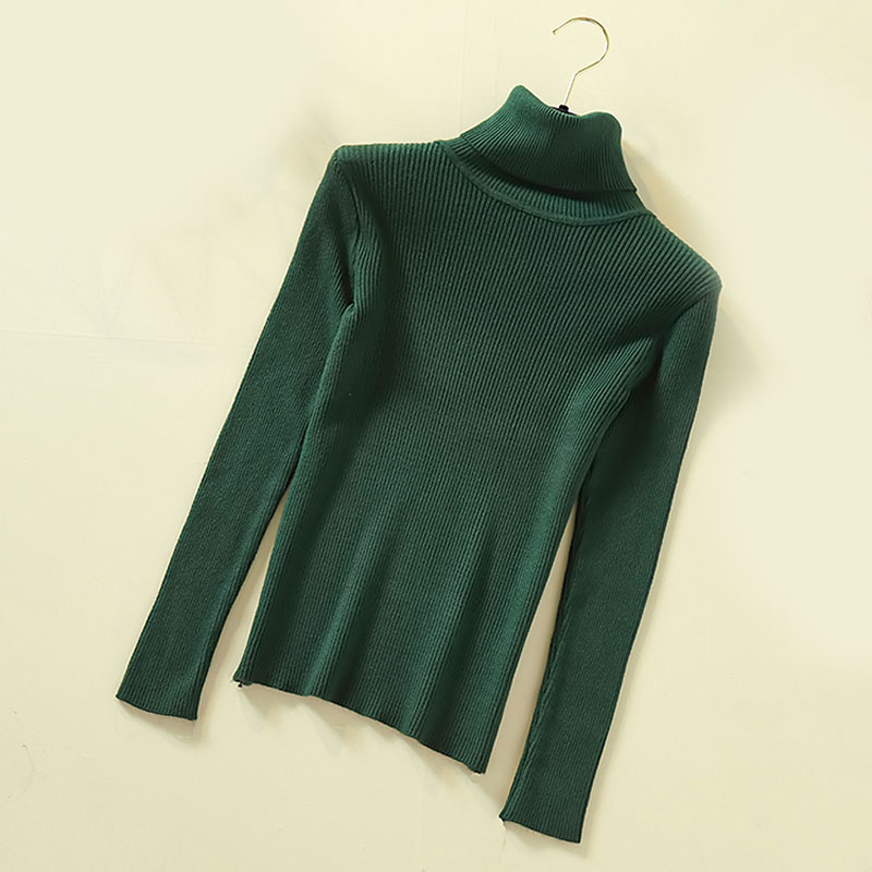 Lucyever Turtleneck Women Pullover Sweater Spring Jumper Knitted Basic Top Fashion Autumn Long Sleeve Korean Ladies Clothes 2020 5