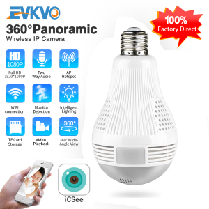 ICSEE HD 360° Panoramic Wifi 1080P IP Camera Light Bulb Home Security Video Camera Wireless CCTV Surveillance Fisheye Network