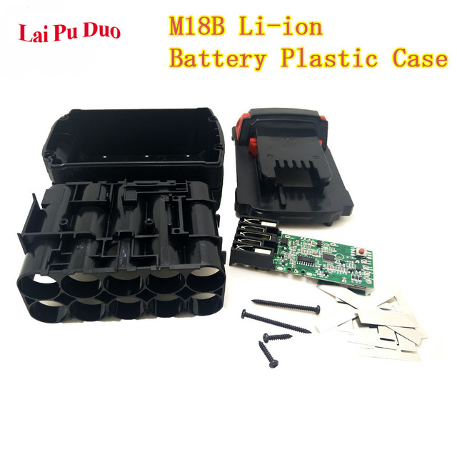 For Milwaukee 18V M18B Li ion Battery Plastic Case Charging Protection Circuit Board M18 48 11 1815 3Ah 4Ah 5Ah PCB Board Shell