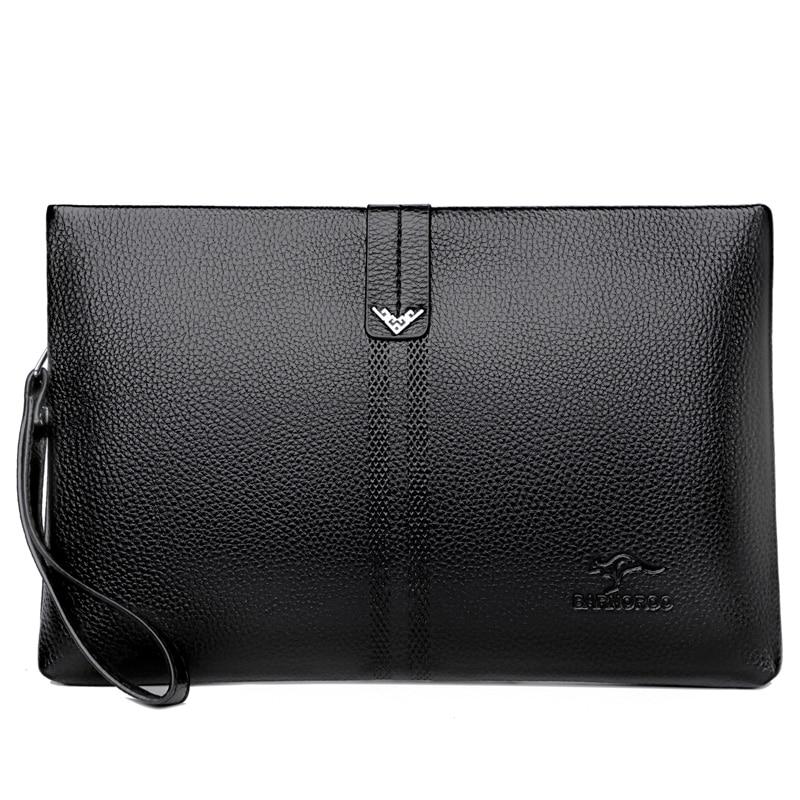 Luxury Brand Long Wallet Men Double Zipper Coin Pocket Purse Men Wallets Casual Business Card Holder Large Wallet Male Clutch
