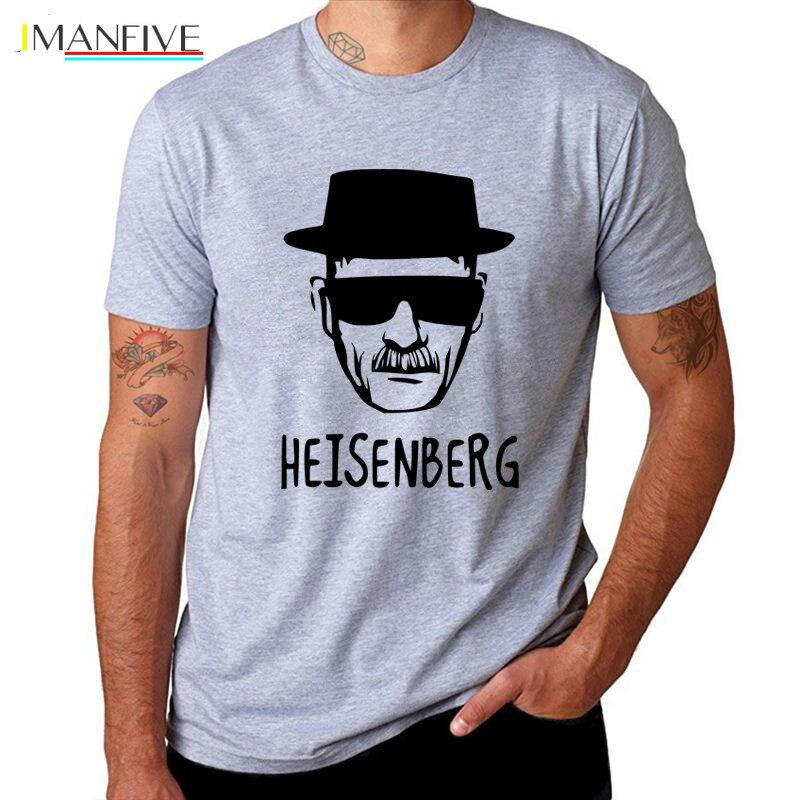IMANFIVE Breaking Bad Heisenberg Funny Men T Shirt High Quality Cotton O-Neck Short Sleeve Fashion Printed T-Shirts