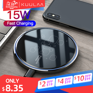KUULAA Wireless Charger 15W Qi induction charger For Xiaomi Mi 9 Pro Wireless Charging Pad For iPhone 11 X XS Max XR 8 Plus