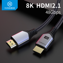 Hagibis HDMI 2.1 Cable 8K/60Hz 4K/120Hz 48Gbps High Speed Digital Cables 144Hz for HDTVs PS4 Switch XBox Projectors video Cable