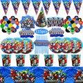 115Pcs Superheld Thema Tasse Platte Serviette Jungen Geburtstag Party Dekoration Party-Event Liefert Favor Artikel für Kinder 10 Menschen verwenden