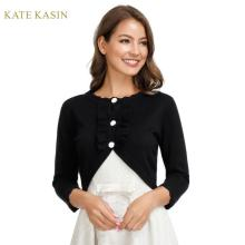Kate Kasin Autumn Winter Women Short Sweater Coat