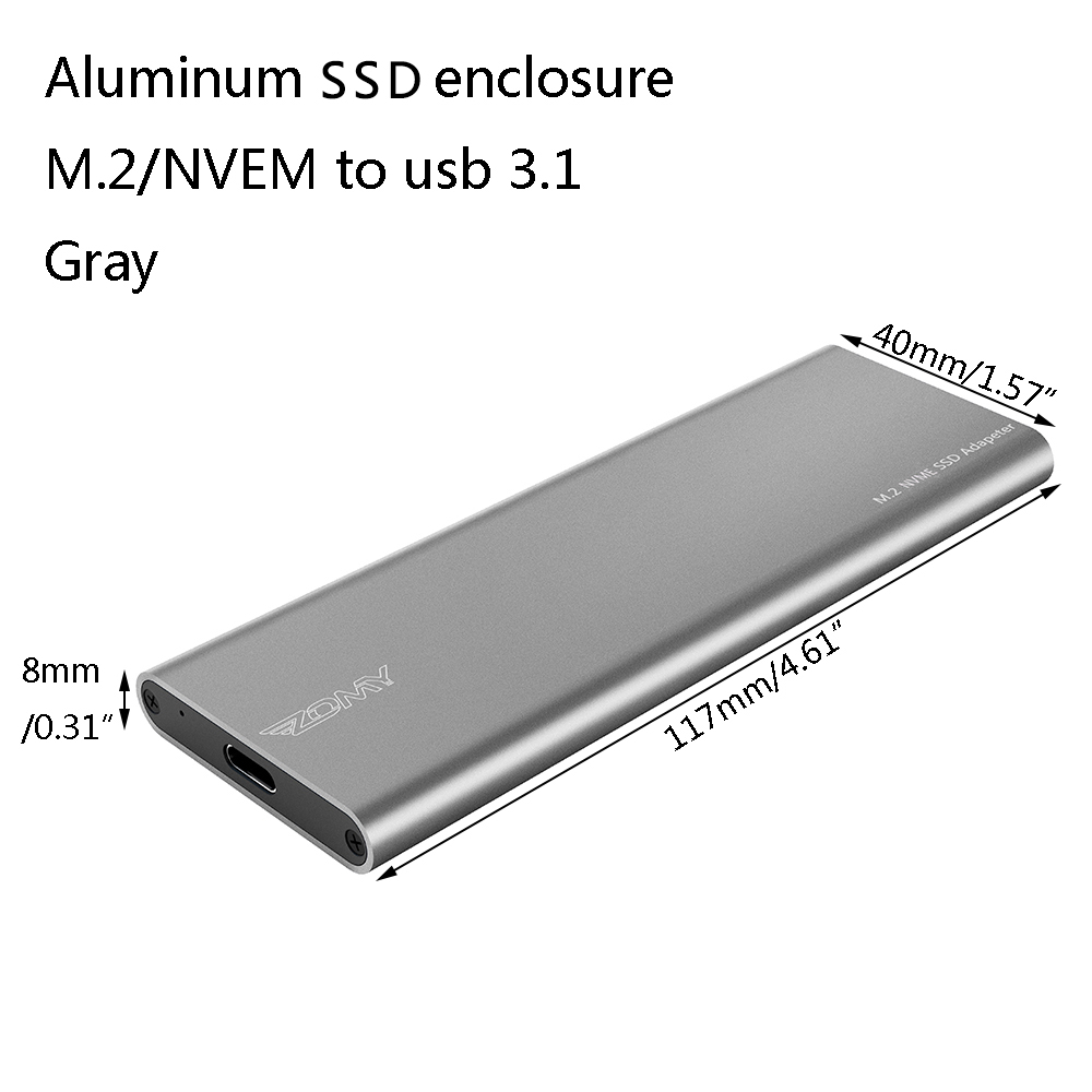 Zomy NVME to USB 3.1 External SSD Solid State Case Gen 2 Mobile Hard Drives Box Type C 10Gbps Enclosure Shell M Key for Laptop|External Solid State Drives| - AliExpress