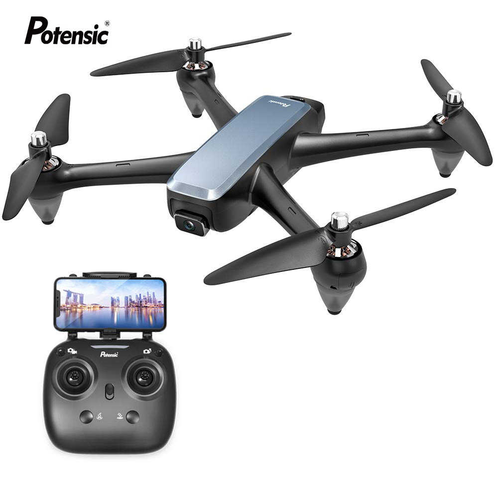 Potensic D60 GPS Drone with 4K Wide-Angle HD FPV Dual Camera Brushless Motor RC Drone Quadcopter