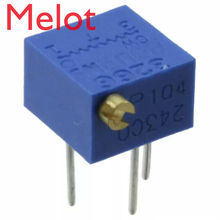 100% Original 3266P 1K 2K 5K 10K 20K 50K 100K 200K 500K 1M SqaureTrimpot Trimming Potentiometer Connector For Bourns x 100PCS mcigicm 1000pcs 3296w 100 200 500 ohm 1k 2k 5k 10k 20k 50k 100k 200k 500k 1m ohm trimpot trimmer potentiometer