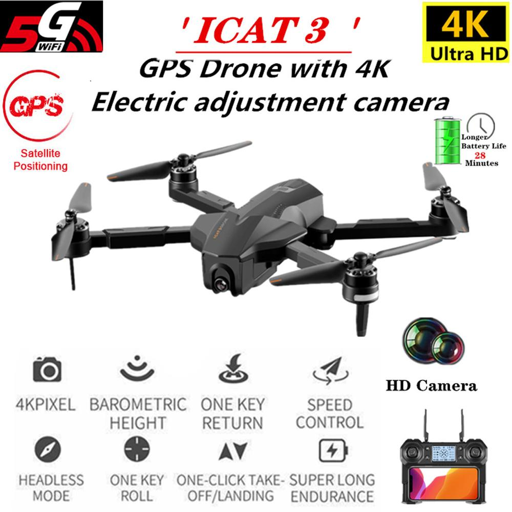 Professional ICAT3 <font><b>Brushless</b></font> GPS <font><b>Drone</b></font> Optical Flow Positioning <font><b>Drone</b></font> RC Folding <font><b>Drone</b></font> RC Helicopter Aircraft with 4K HD Camera image