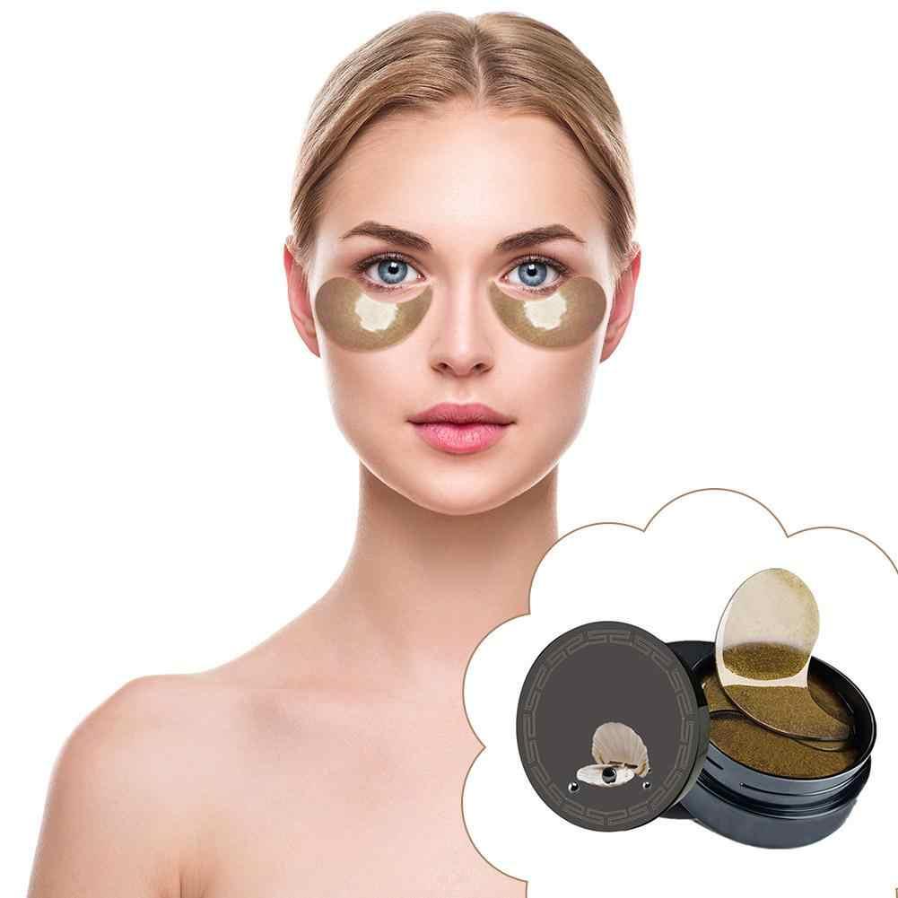 60 adet/kutu kristal göz maskesi kollajen jel göz yamaları koyu halkalar kaldırma göz pedi geliştirmek göz torbaları seyreltik koyu halkalar