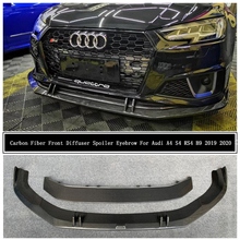 Accessories Lip-Spoiler Front-Bumper-Diffuser Carbon-Fiber Audi for A4 S4 B9 Decorative-Strip