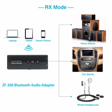 Bluetooth 5.0 Transmitter and Receiver Wireless Adapter Stereo Audio 3.5mm Aux Jack Adapters for TV Car Kit with Control Button