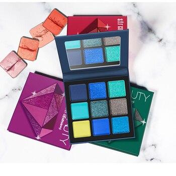 Makeup Metal matte Eyeshadow Pallete makeup brushes 9 Color Shimmer Pigmented Eye Shadow Palette Make up Palette maquillage 5