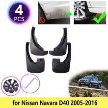 Para Nissan Navara D40 2005 ~ 2016 Mudguards Fender Mudflaps Mud Flaps Respingo Guardas Acessórios 2006 2007 2008 2009 2010 2012 2013