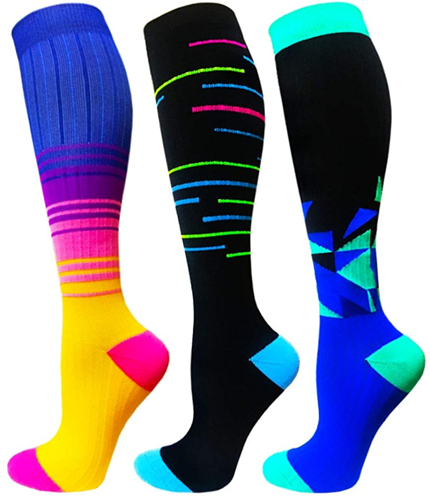 2020 Newest Compression Stockings Men Women Funnycute Running Sports Socks Edema Diabetes Varicose Veins Running Sports Socks