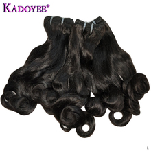 Funmi Hair Bouncy Curl Hair Weaving Natural Color Human Hair Bundles Malaysia Hair Weave 3 Bundles Remy Hair Extension For Women cheap Kadoyee Bouncy Curly =15 Free Part 3 pcs Weft Permed 100 Human Hair Funmi Hair Bouncy Curl Human Hair 3 Bundles for Women