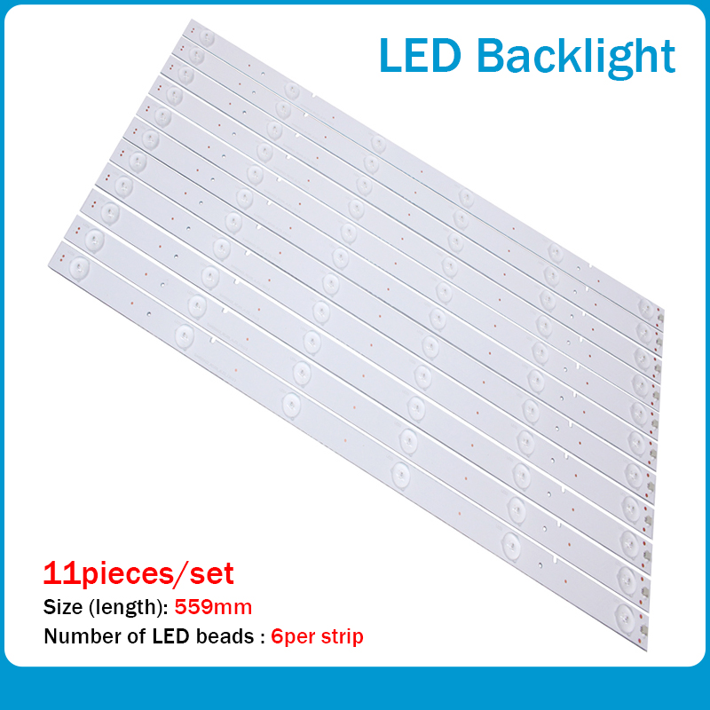 11 PCS/set 503mm LED Backlight Strip For 50Inch TV RSAG7.820.6311/ROH LED50EC620CA HD500DU-B01