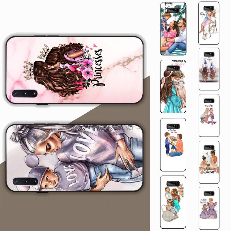 Funda de teléfono negra marrón para Samsung Note 3 4 5 7 8 9 10 20 pro lite ultra Oppo A9 2020