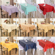 Solid Color Plaid Tablecloth Wave Edge Simple Geometric Table Cover Rectangular Modern Universal Home Coffee Dining Table Cloth