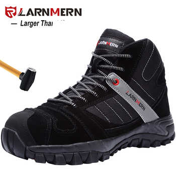 LARNMERN Men Winter Warm Steel Toe Cap Work Safety Shoes Outdoor Ankle Boots Fashion Puncture Proof Footwear - DISCOUNT ITEM  47% OFF All Category