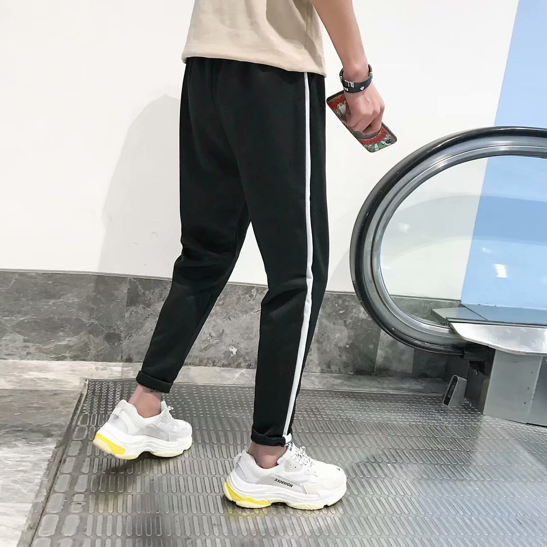 Men And Women Casual Bai Gan Sports Pants Students Sports Running Casual Pants Non-Magnetic Iron-Free Exam Work Over Security Ch