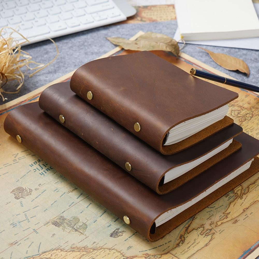 Классический кожаный связующее кольцо тетрадь A5 персональный A7 натуральная кожа крышка журнал дневник планировщик канцелярские принадлеж...