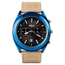 Tpw новые мужские часы с секундомером из натуральной кожи Топ