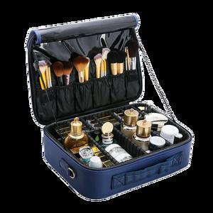 Image 4 - PU Leather Multifunctional Cosmetic Bag Large Capacity Make Up Case New Travel Makeup Bag