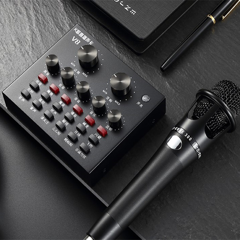 12 sound effects mobile phone computer sound card anchor equipment stage audio processor mixer microphone set live diacritical