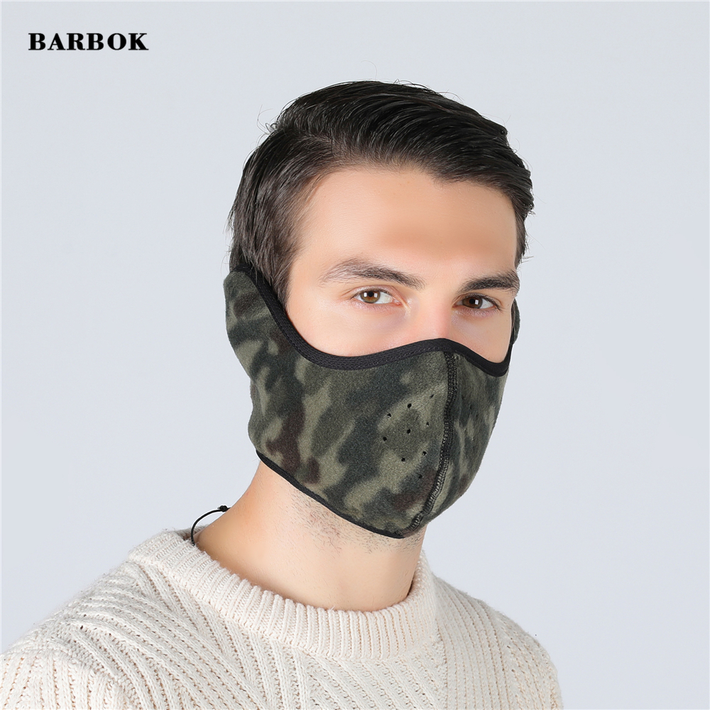 Winter Warmer Cycling Half Face Mask Ride Running Scarf Warm Up Fleece Headwear Bicycle Bandana Sports Fishing Mask Cover