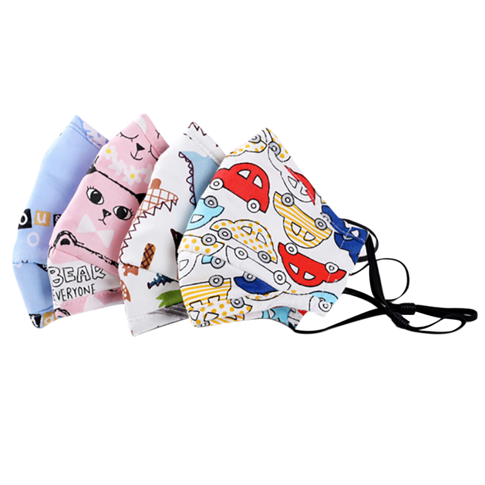 Anti Dust Face Mouth Mask Reusable Breathable Cotton Protective Children Kid Cartoon PM2.5 Anti-Dust Face Mask with 10pcs Filter 1
