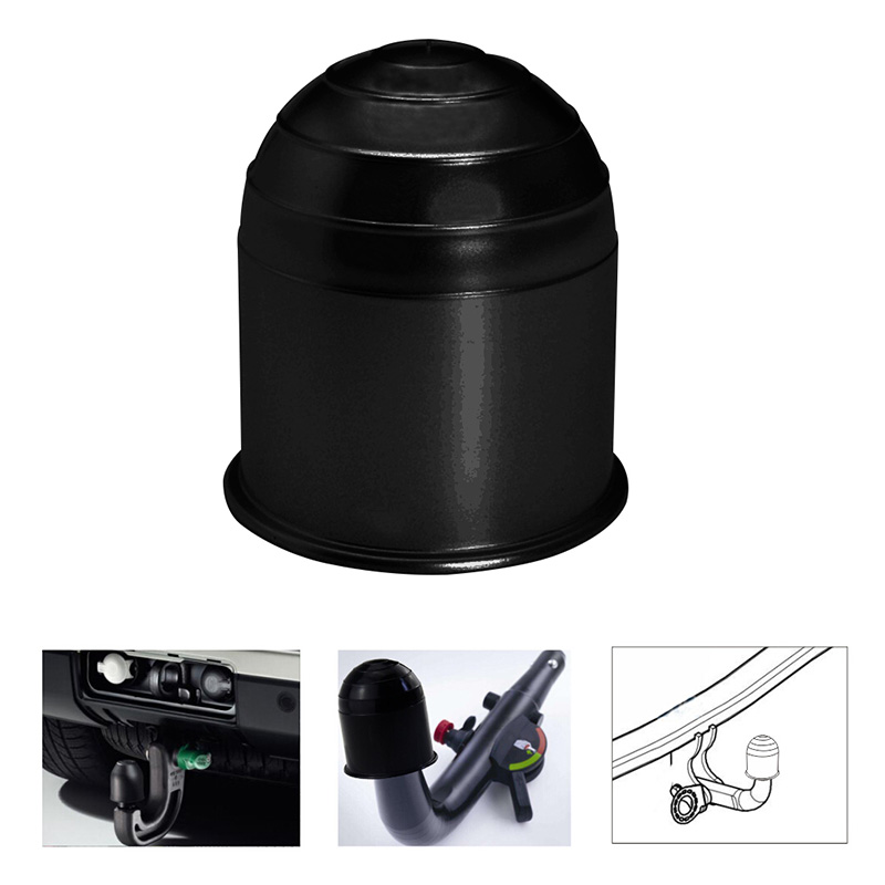 Universal 50MM Trailer Accessories Black Trailer Ball Cover Tow Bar Ball Cover Cap Hitch Protection Car Styling