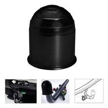 Uniwersalne akcesoria do przyczep 50MM czarna przyczepa pokrywa kulowa zaczep kulowy haka holowniczego osłona zaczepu ochrona Car Styling