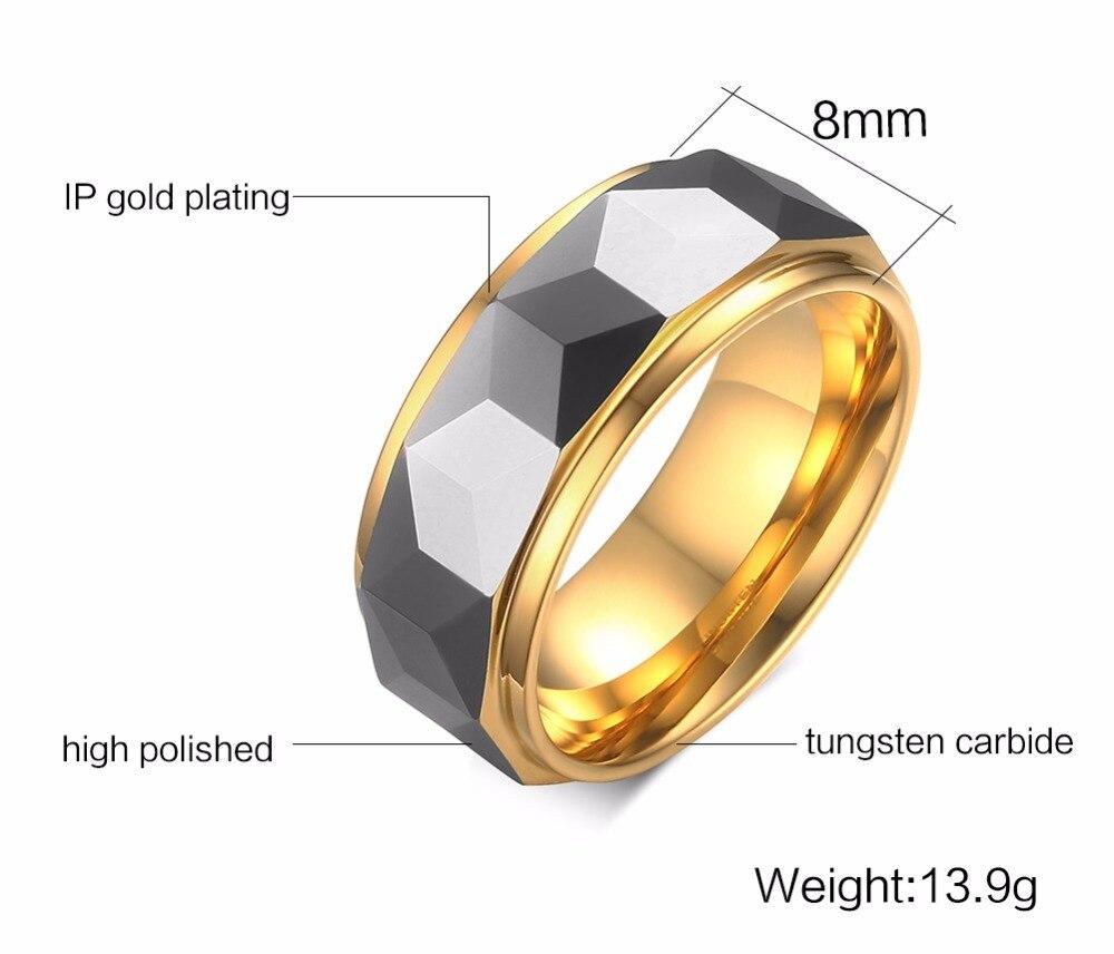 Mens Tungsten steel Rings wedding bands 113