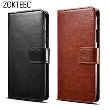ZOKTEEC Luxury Retro Leather Wallet Flip Cover Case For Motorola Moto G4 Plus phone Coque Fundas With Card Slot