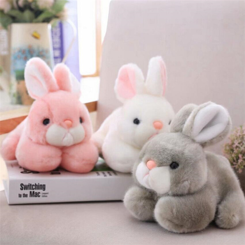 15CM/20CM Kawaii Cute Pink Rabbit Animals Rabbits Stuffed Plush Toys For Baby Girls Birthday Christmas Gifts